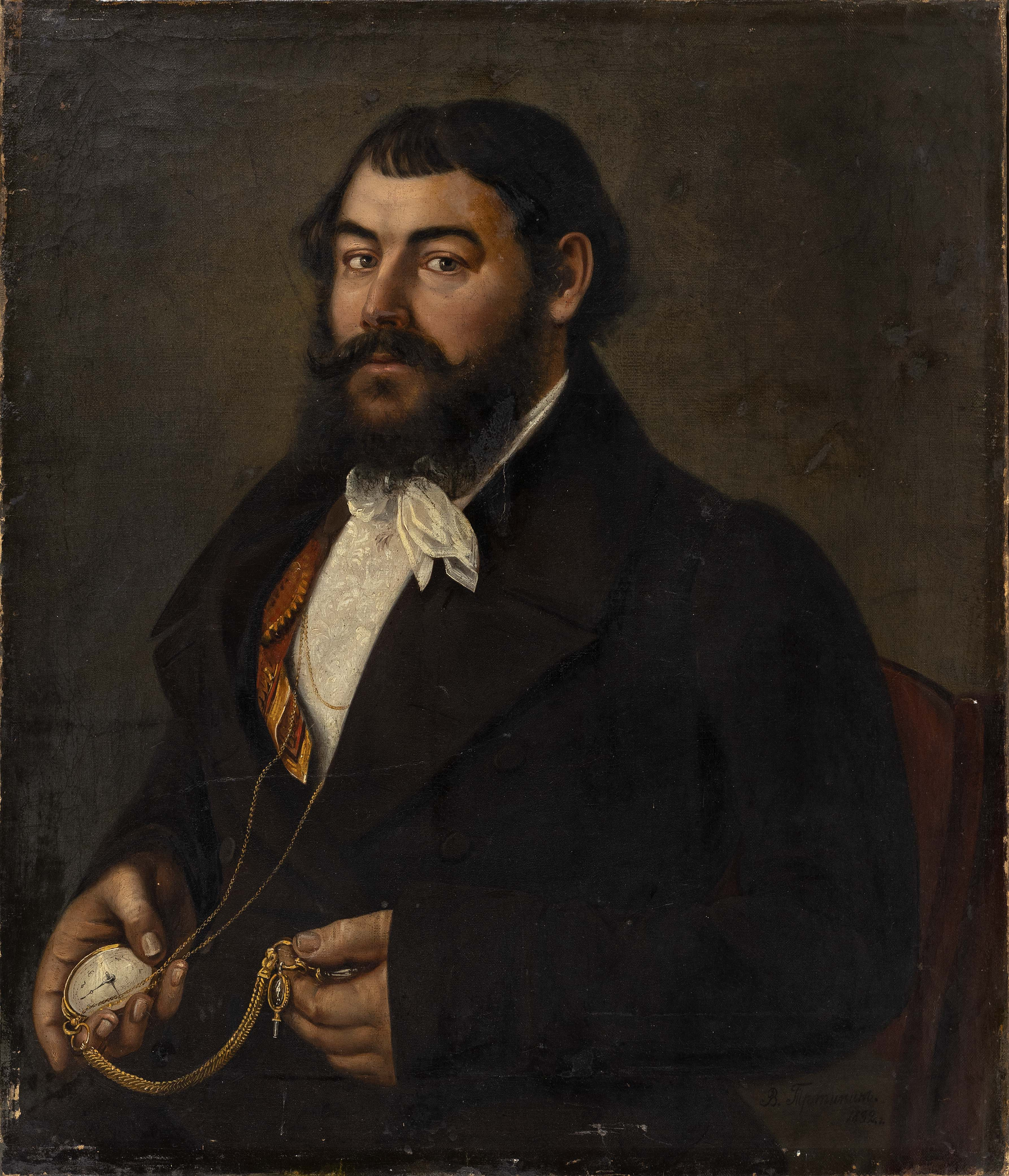 PORTRAIT OF A GERMAN MAN 19th Century Oil on canvas, 29