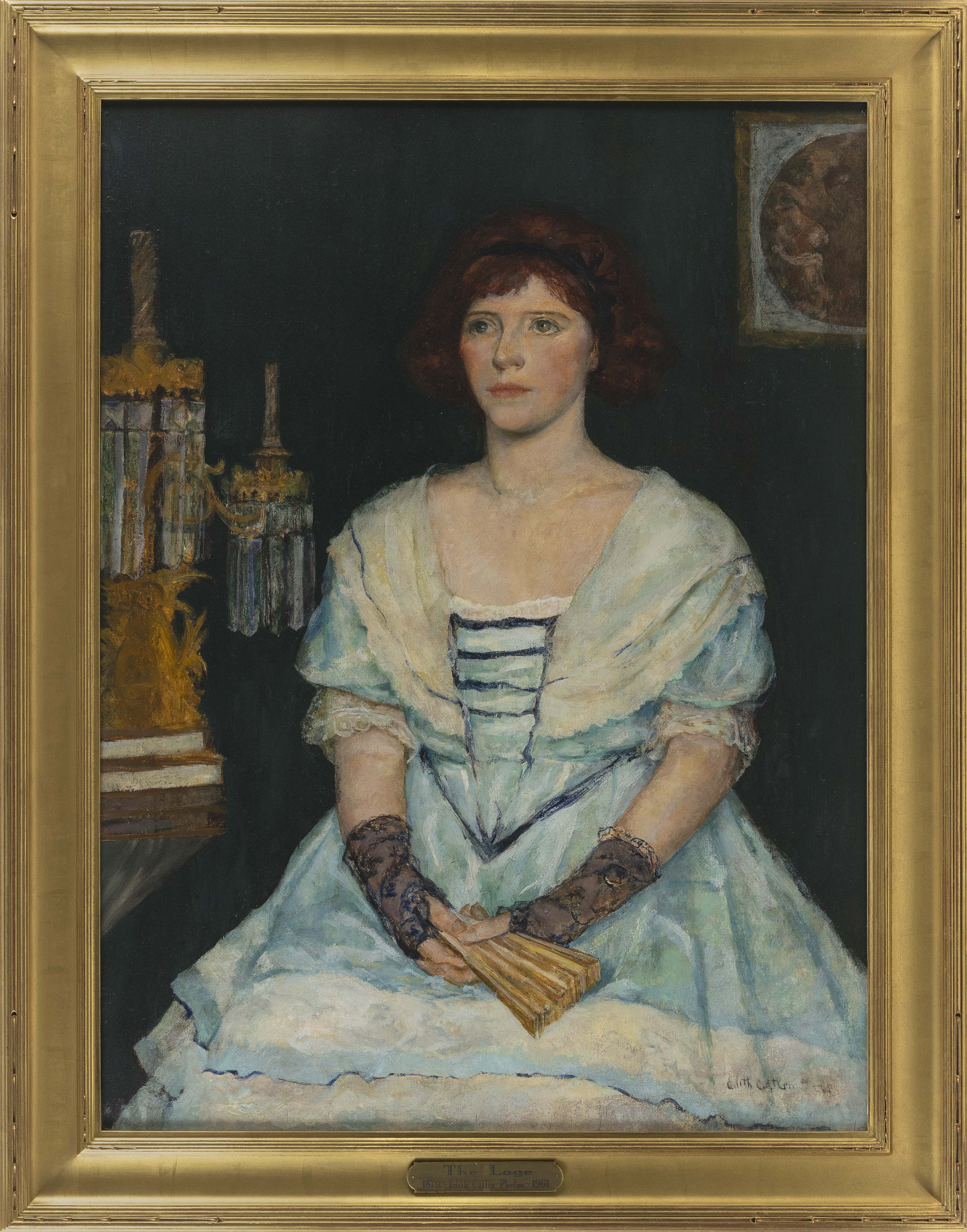 EDITH CATLIN PHELPS (California, 1875-1961), Portrait of a young lady., Oil on board, 40