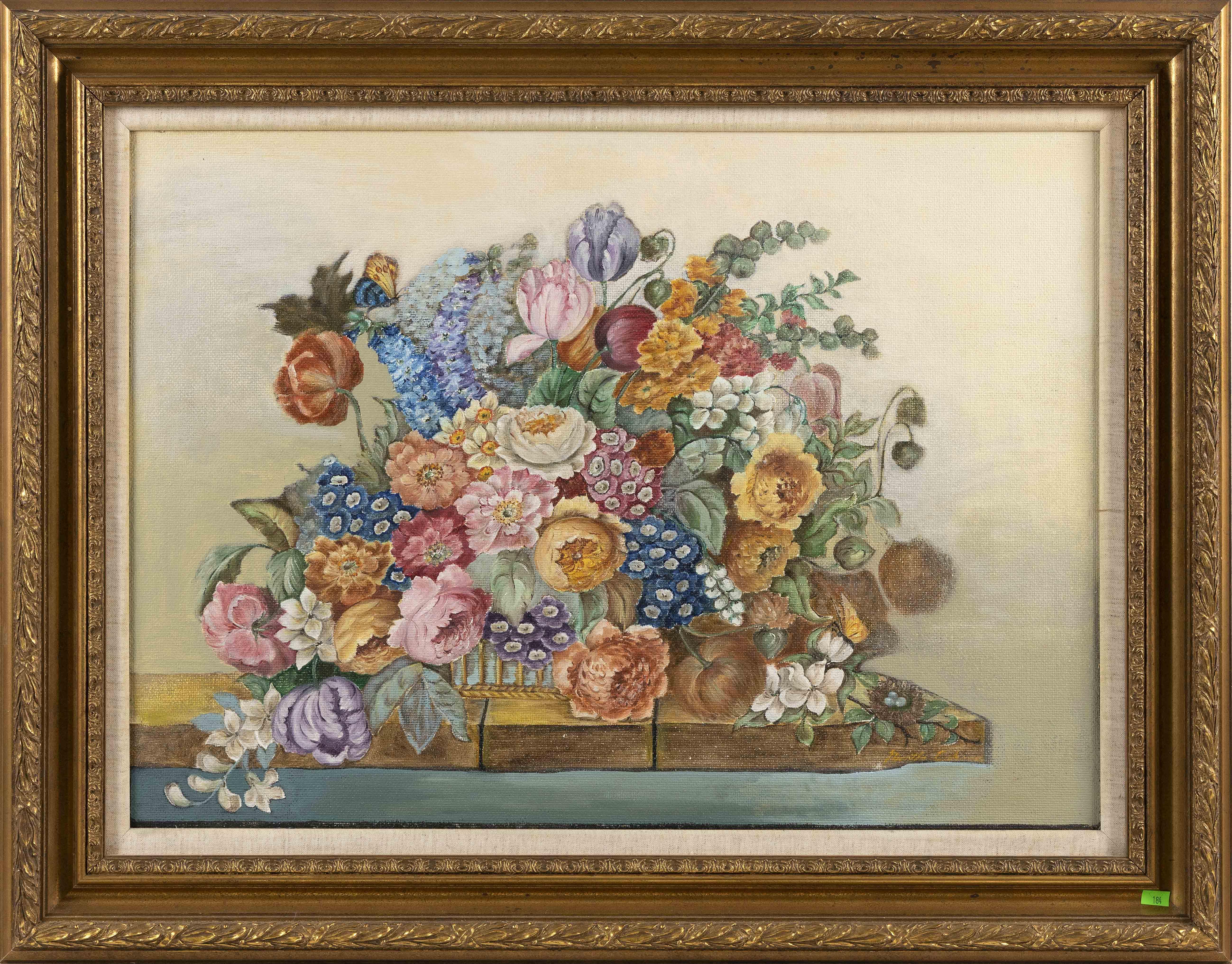MANNER OF MARTHA CAHOON (20th Century,), Floral still life., Oil on masonite, 20