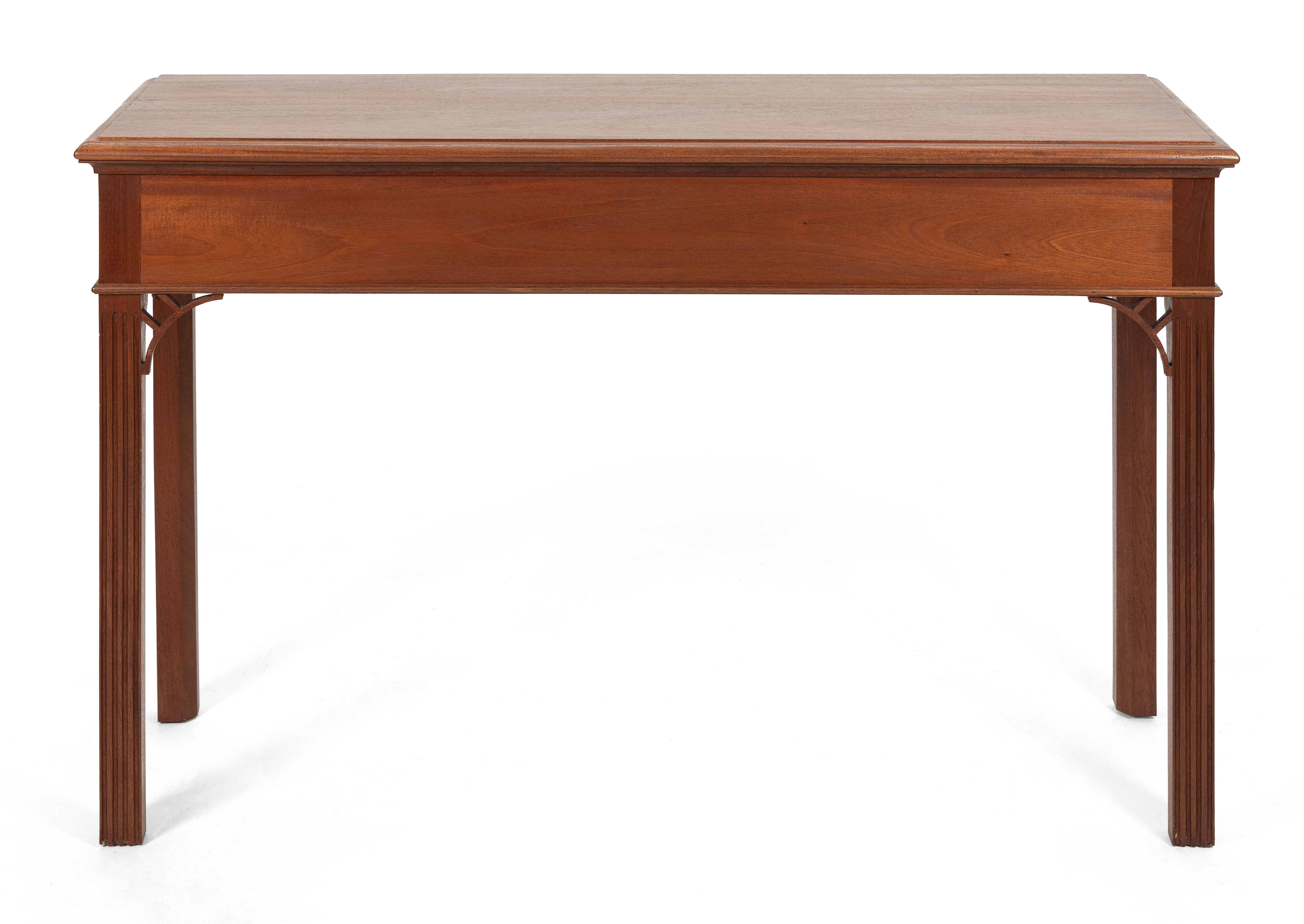 """CHIPPENDALE-STYLE CONSOLE TABLE 20th Century Height 34.25"""". Width 54.25"""". Depth 18.25""""."""