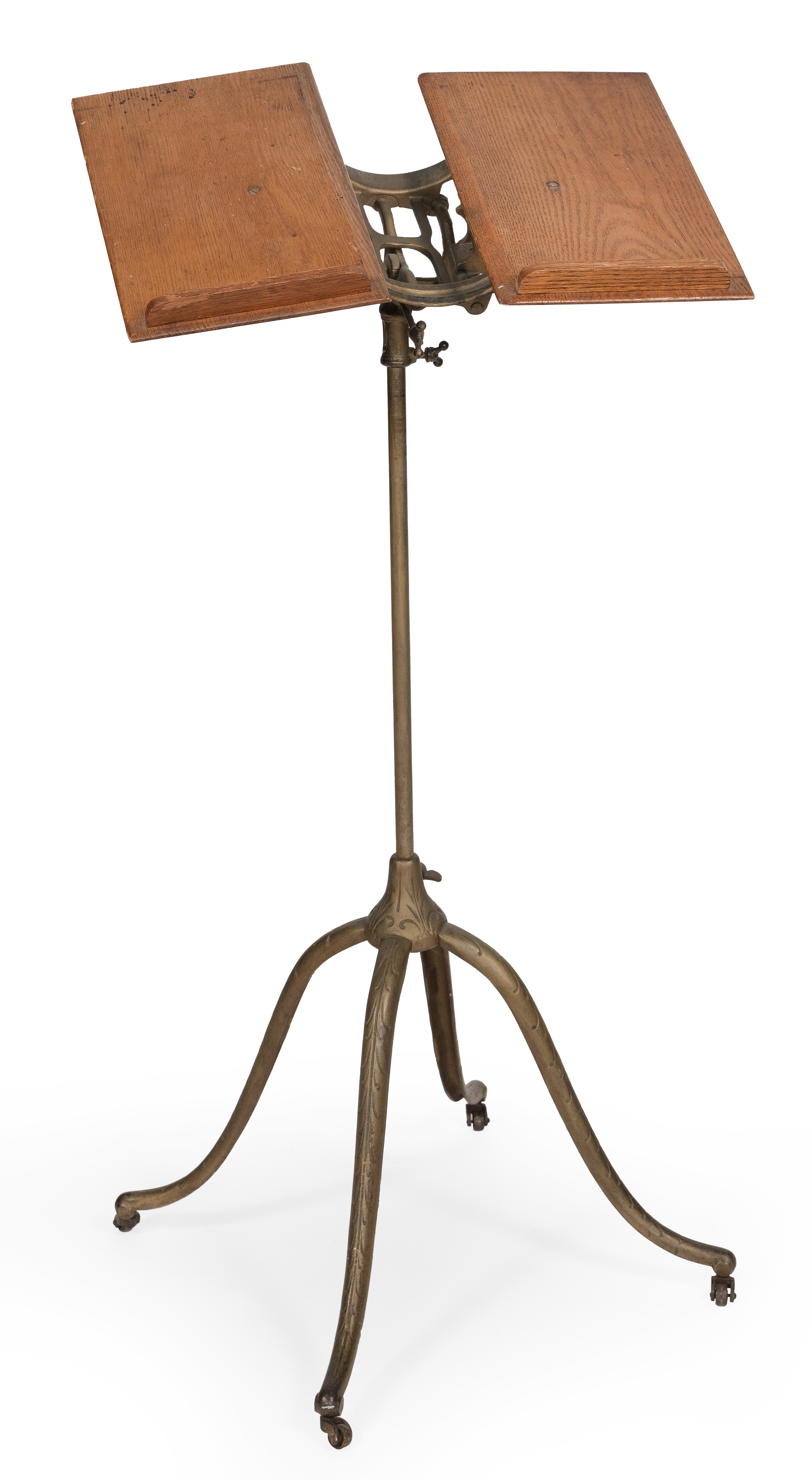 ADJUSTABLE DICTIONARY STAND Circa 1896 Height adjustable. Length and width approx. 17