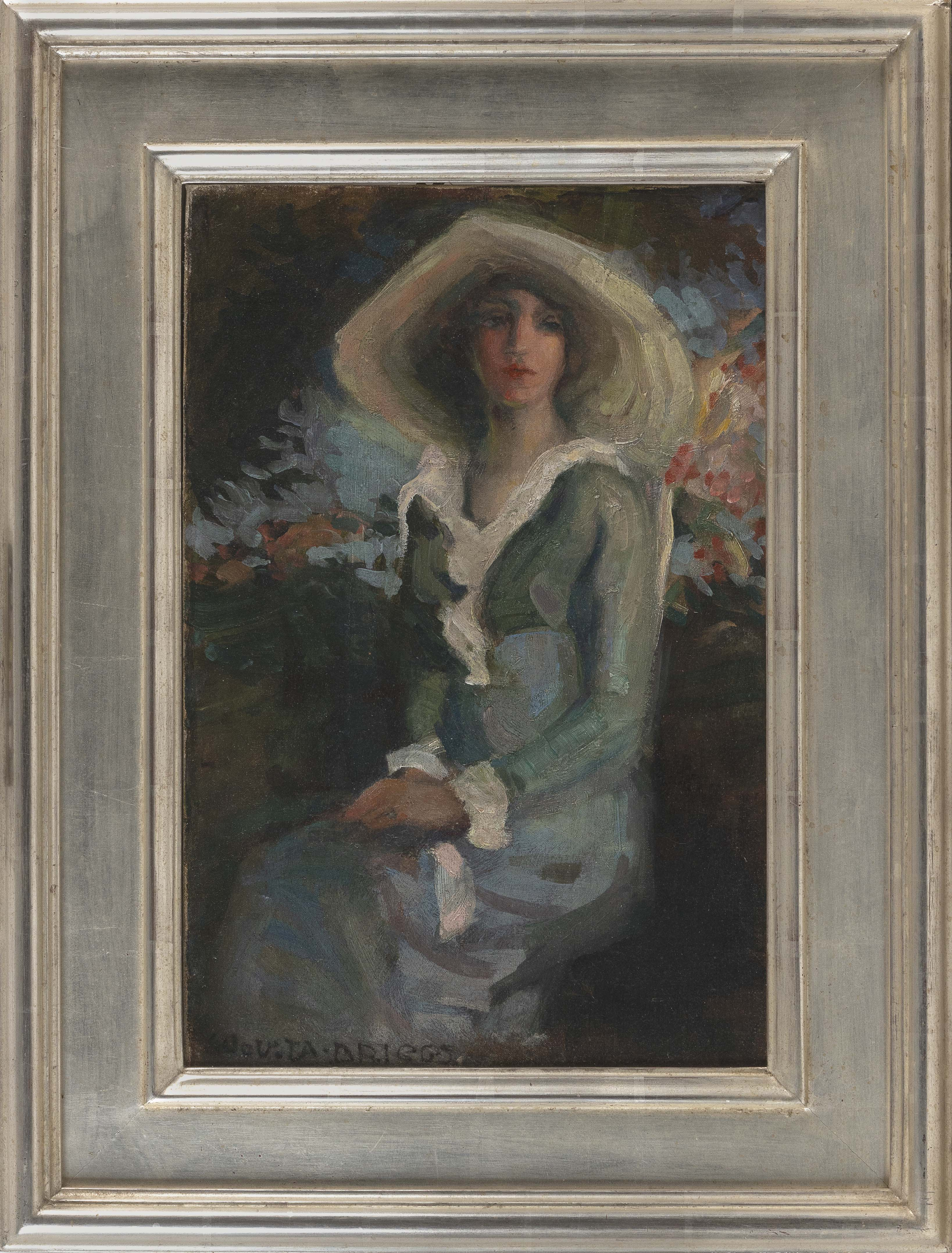 "BRIGGS (American,), Portrait of a woman., Oil on canvas, 18"" x 12"". Framed 25"" x 19""."