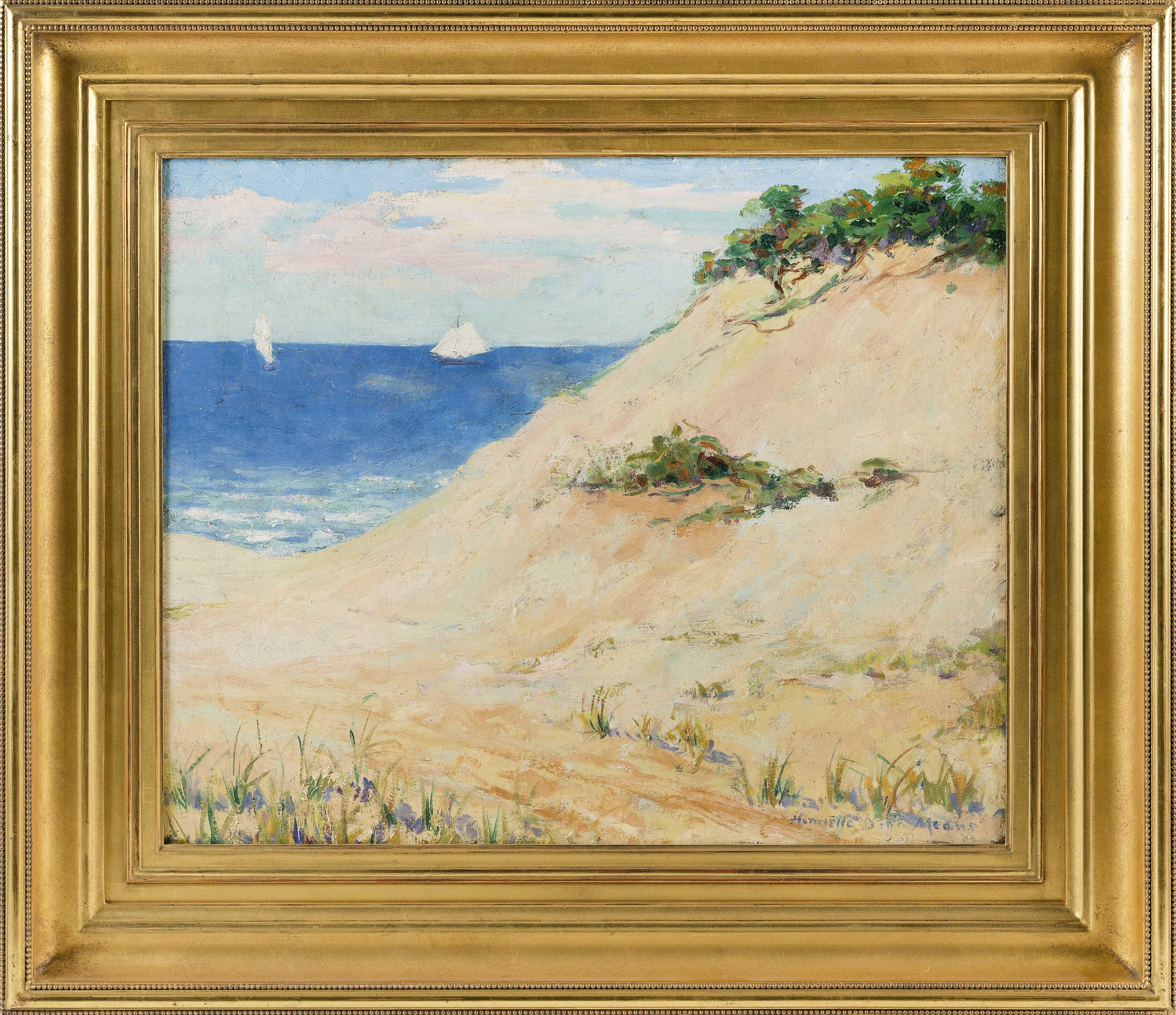 HENRIETTA DUNN MEARS (Massachusetts, 1877-1970), Dune scene, likely Cape Cod., Oil on canvas, 18
