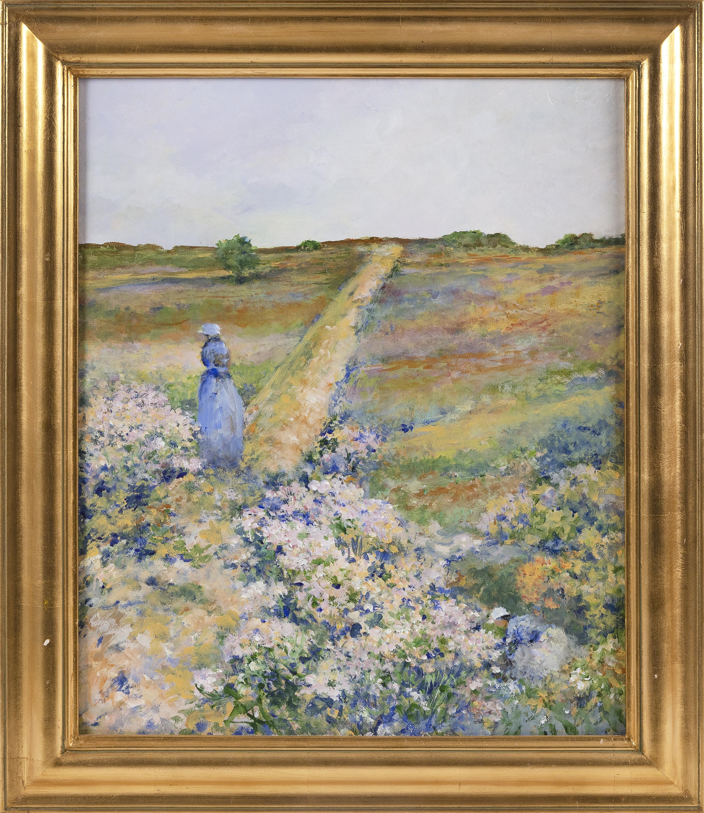 PETER GUARINO (Massachusetts, Contemporary), Path through the dunes., Acrylic on canvas, 23