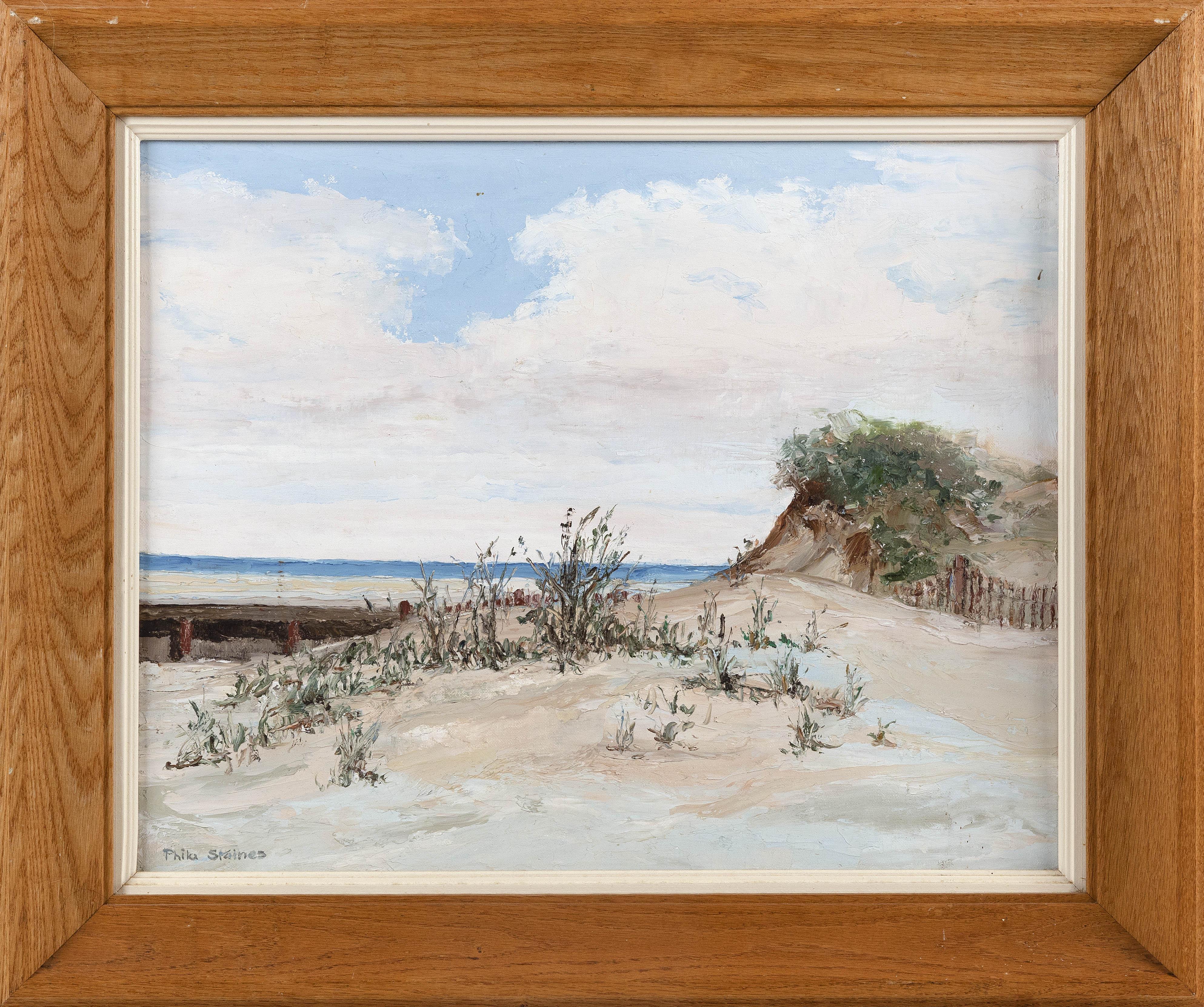 CAPE COD SCHOOL (20th Century,), Dune landscape., Oil on canvas board, 16