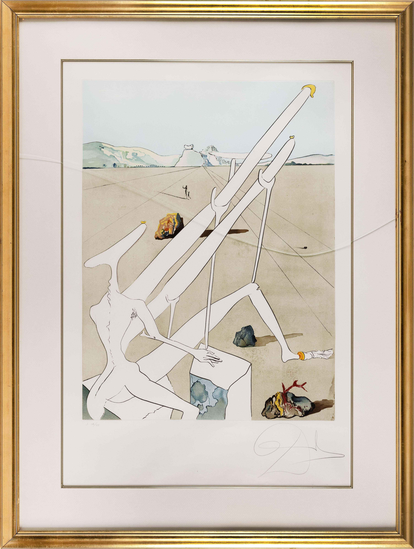 "SALVADOR DALI (France/Spain, 1904-1989), , Lithograph, 37"" x 25"" sight. Framed 48"" x 36""."