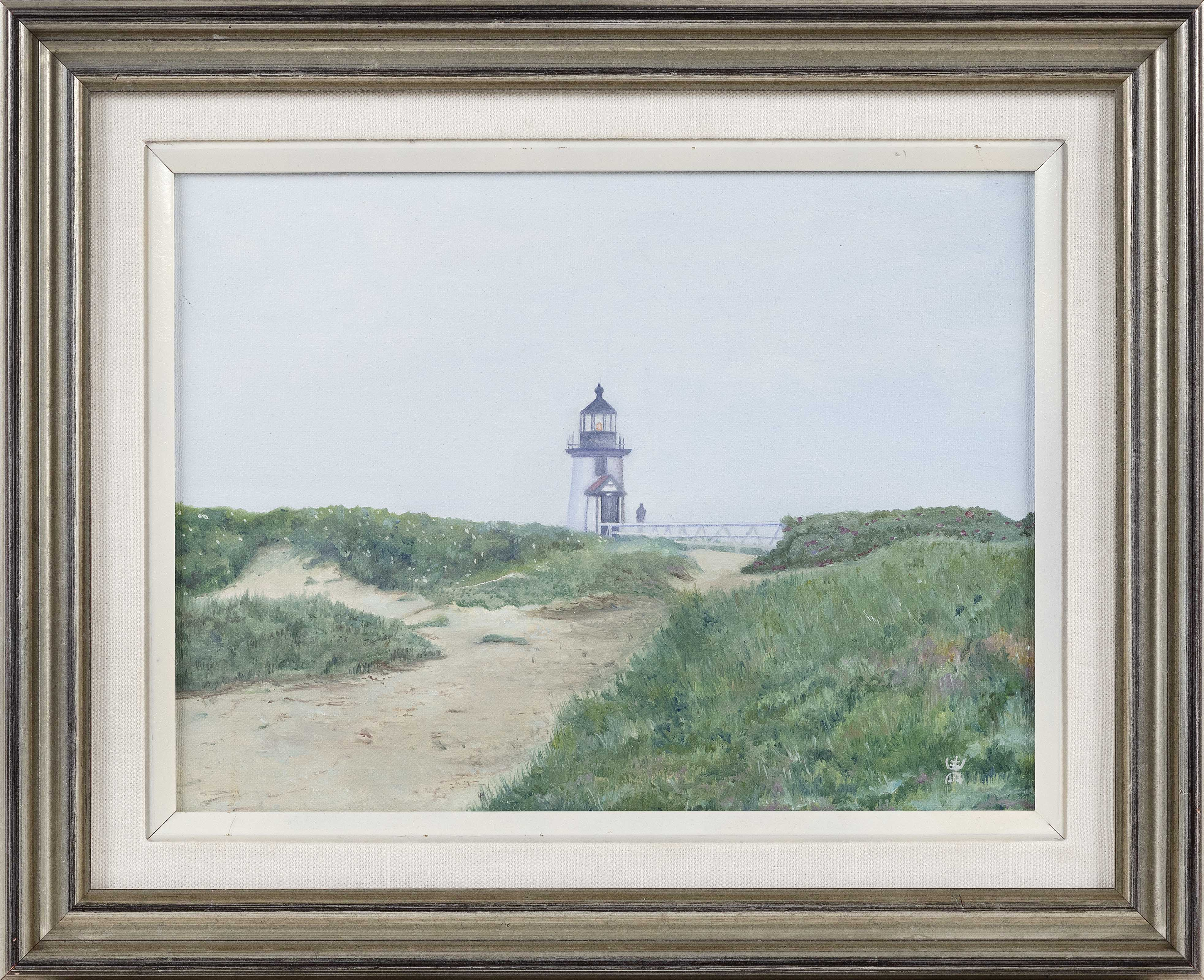 """KELLY MCFARLAND (America, Contemporary), """"Brant Point""""., Oil on canvas, 8"""" x 11"""". Framed 13"""" x 16""""."""