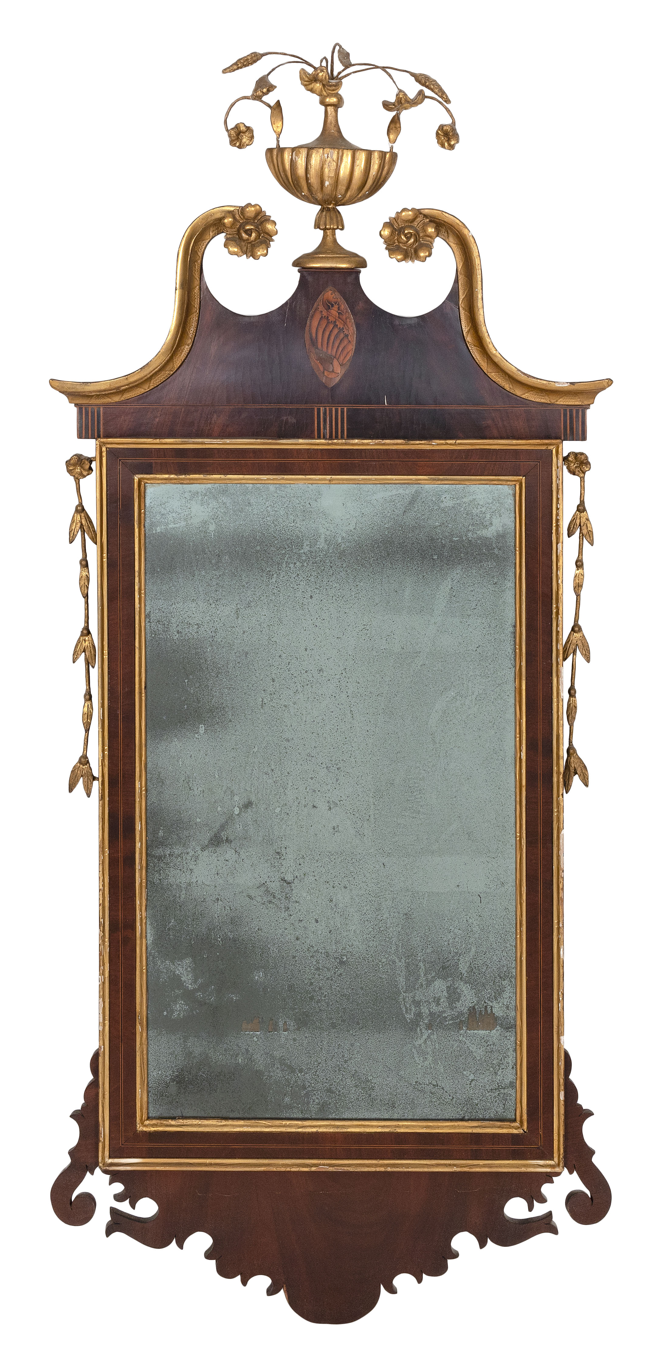 """CHIPPENDALE MIRROR America, Late 18th Century Height approx. 53"""". Width 23""""."""