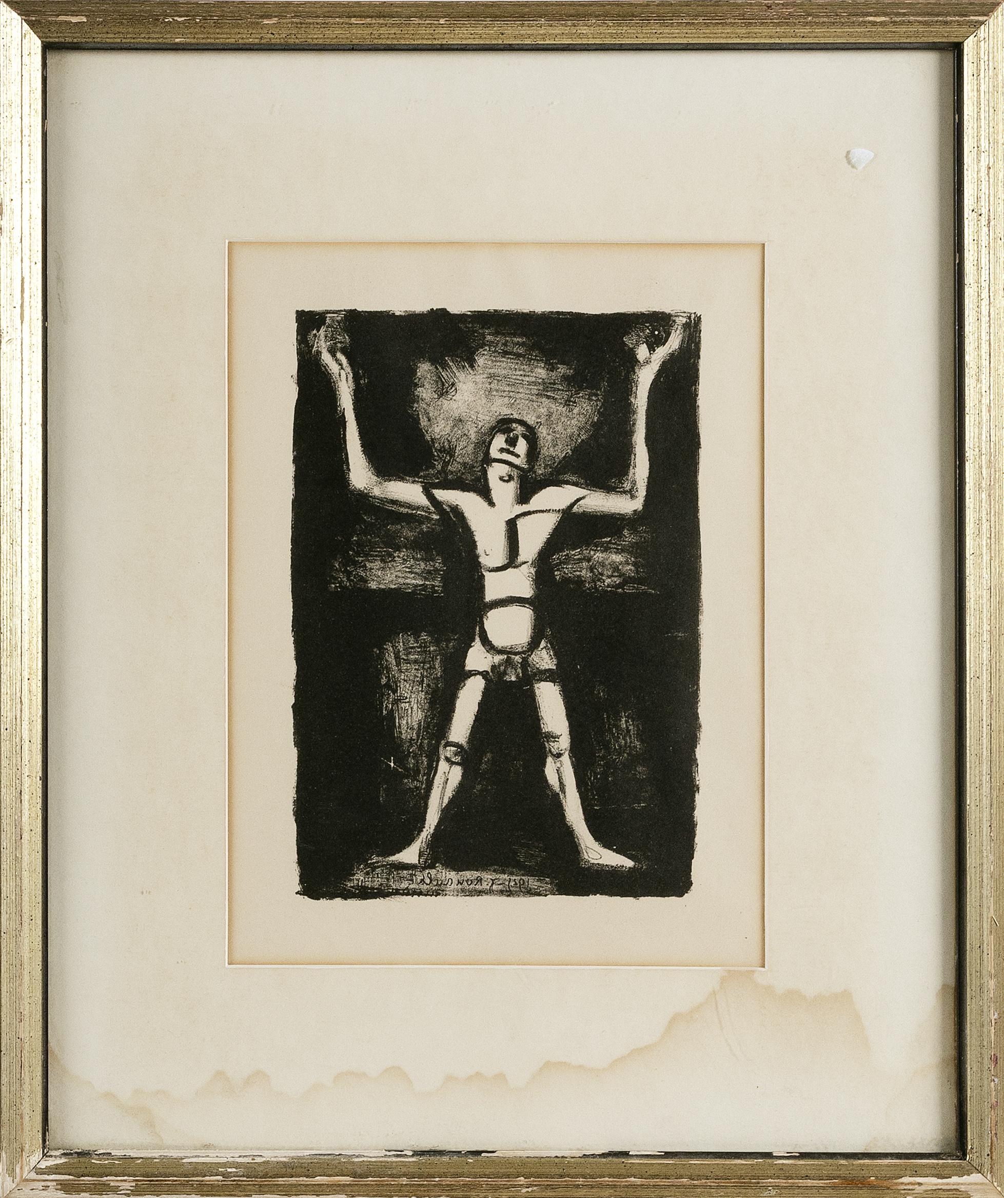 GEORGES ROUAULT (France, 1871-1958), Le Jongleur, Lithograph on paper, 11.25