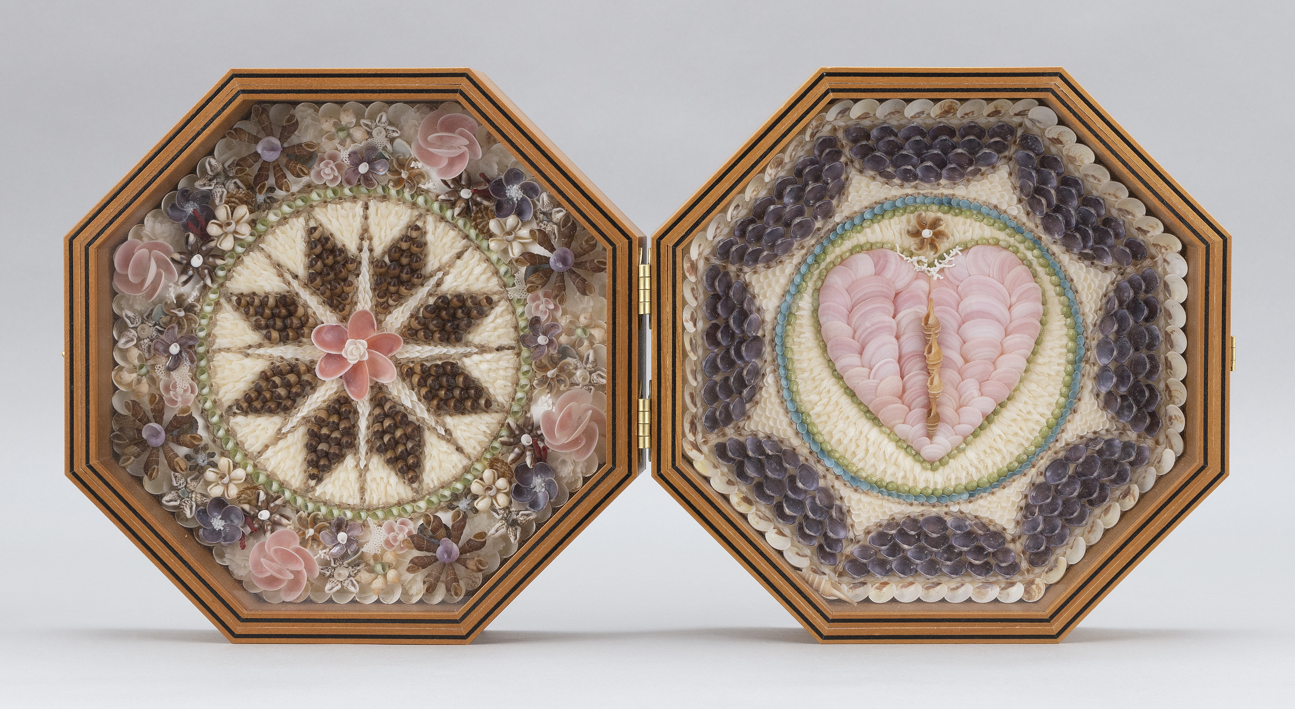 "SANDY MORAN (Cape Cod, 1944-2020), ""Flowers of Barbados""., Octagonal, 9.25""."