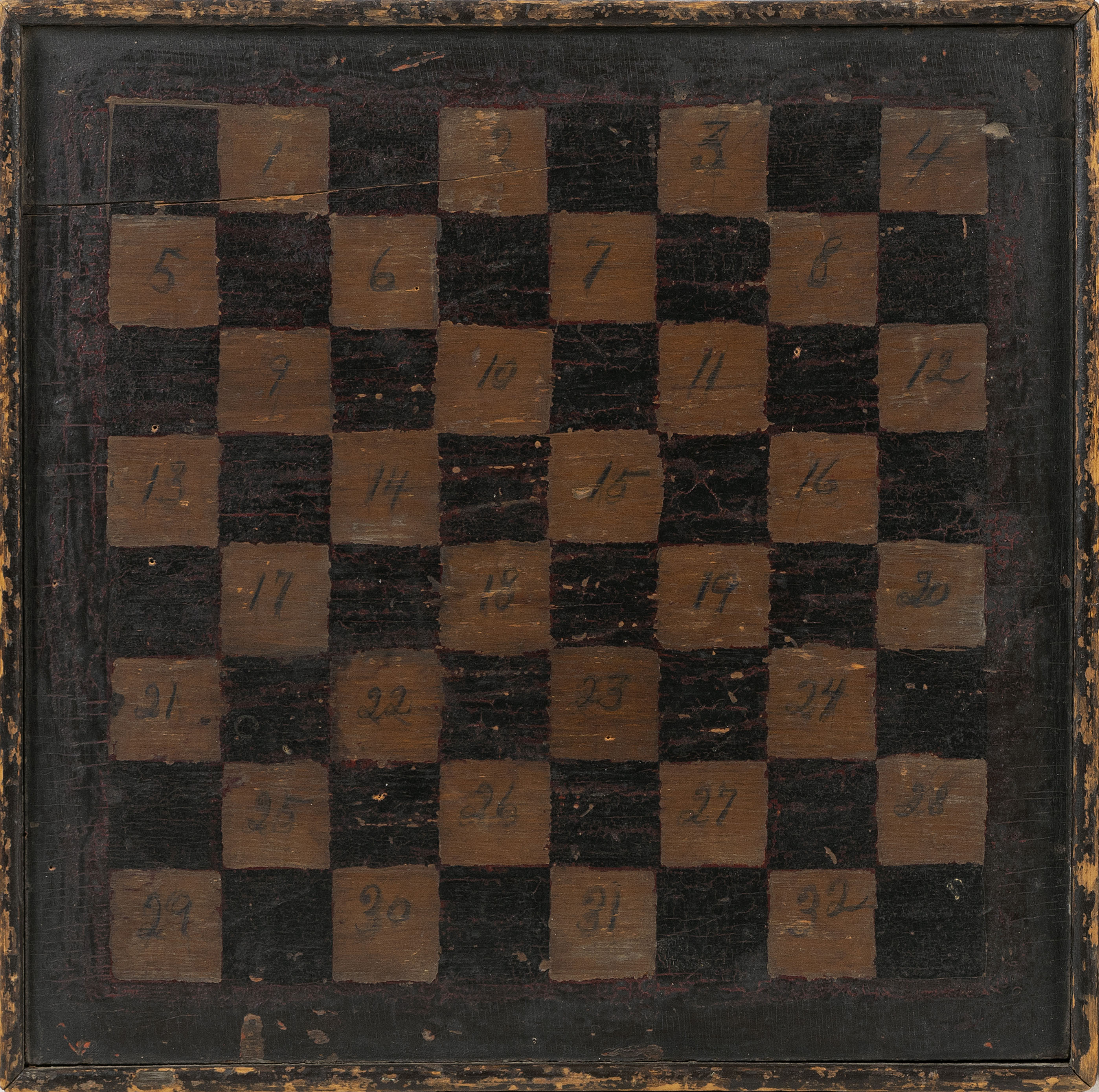 WOODEN GAMEBOARD 19th Century 17.25